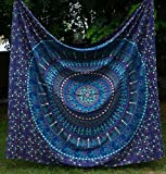Indian Multi-colored Mandala Tapestry,indian Wall Hanging Bedsheet, Coverlet Picnic Beach Sheet , Superior Quality...
