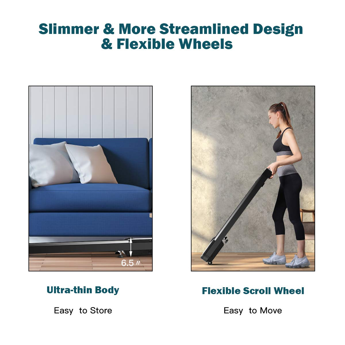 with Touchable LED Display /& Wireless Remote Control Walking Jogging Machine for Home//Office Built-in 3 Workout Modes /& 12 Programs Goplus Under Desk Electric Treadmill
