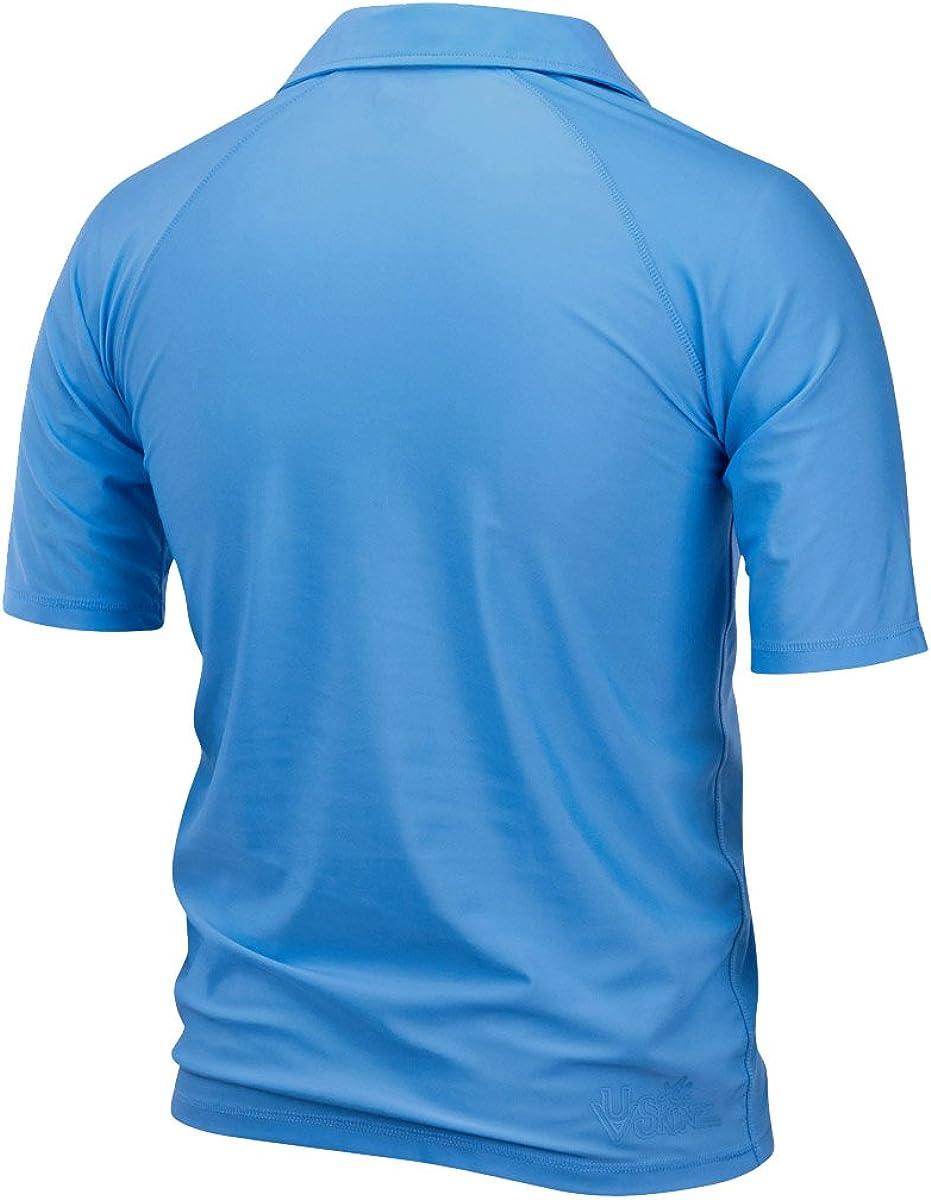 UV Skinz Men/'s UPF 50 Sun-Blocking Shirt Short Sleeve Panel Sun and Swim Shirt