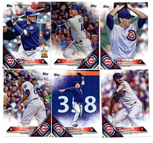 2016 Topps Baseball Chicago Cubs Master Team Set of 41 Cards (Series 1, Series 2, and Update Series)- Includes Kris Bryant, Kyle Schwarber, Jon Lester, Addison Russell, Javier Baez, Jake Arrietta plus more! in a 4-Pocket Display Album