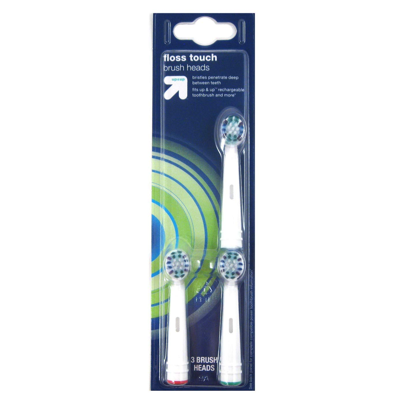 Floss Touch Brush Heads - 3ct - up&up™ (Fits up&up™ Rechargeable Toothbrush and More) by up & up™