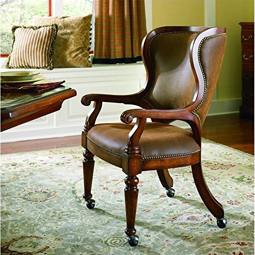 Hooker Furniture Waverly Place Tall Back Cherry Castered Game Chair