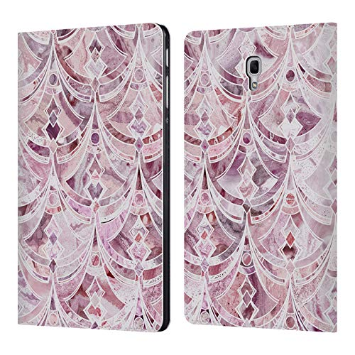Official Micklyn Le Feuvre Berry Frosting Art Deco Pattern Marble Patterns Leather Book Wallet Case Cover for Samsung Galaxy Tab A 10.5 (2018)