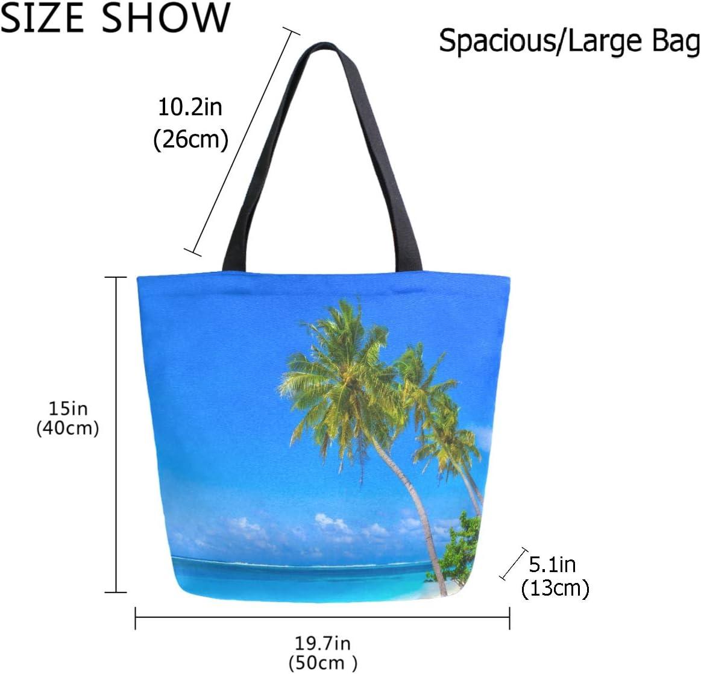 Vector Sky Map Canvas Tote Bag,Fashion Large Capacity Handbag for Women Travel