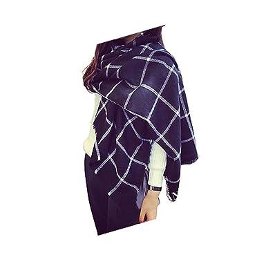 f57a84dc1d0cb FENTI Echarpe Longue Douce et Chaude Surdimensionnée Automne/Hiver pour  Femme Foulards Tartan Châle Long