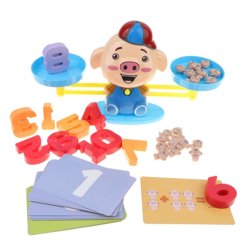 Homyl Juguete de Báscula de Equilibrio de Cerdo de Dibujos Animados Juego para Aprendizaje de Matemáticas de Niños: Amazon.es: Juguetes y juegos