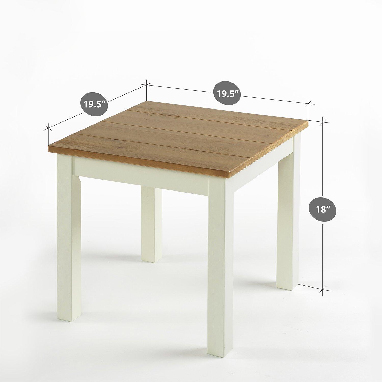 Zinus Farmhouse Wood Side Table by Zinus (Image #3)