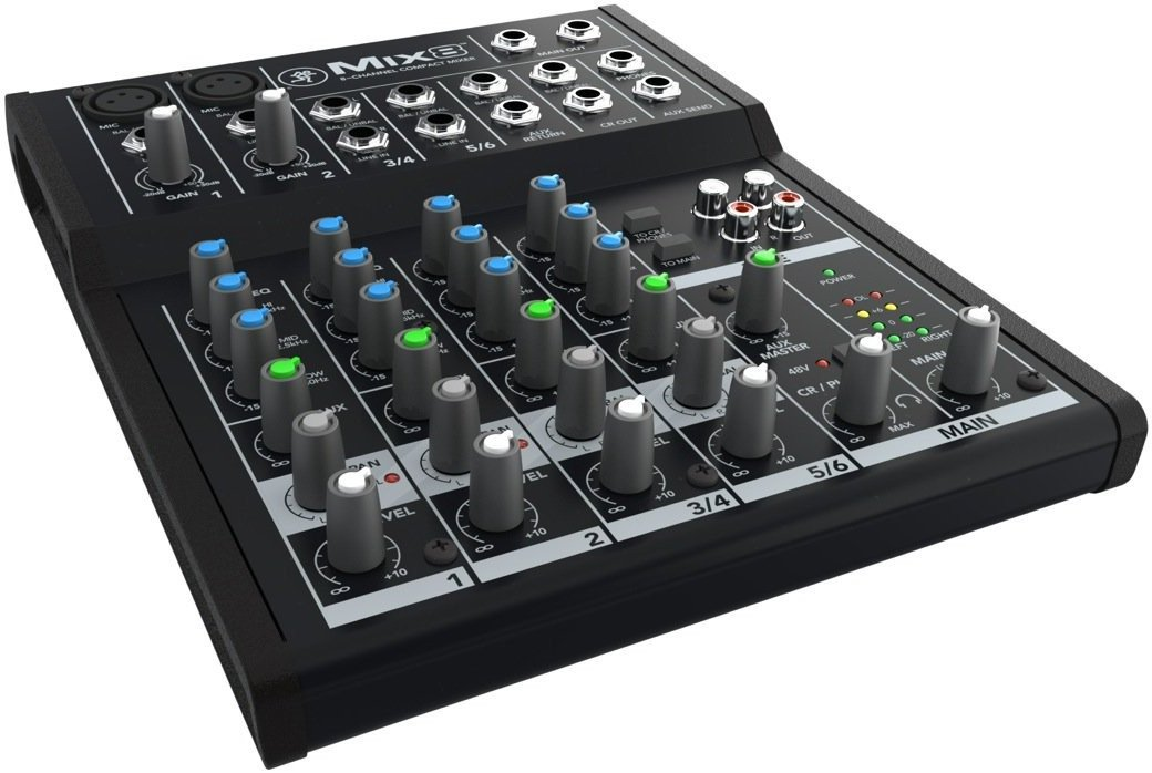 Mackie Mix8 8-channel Compact Mixer with Full Size Studio Headphones and XLR Cable by Mackie (Image #3)