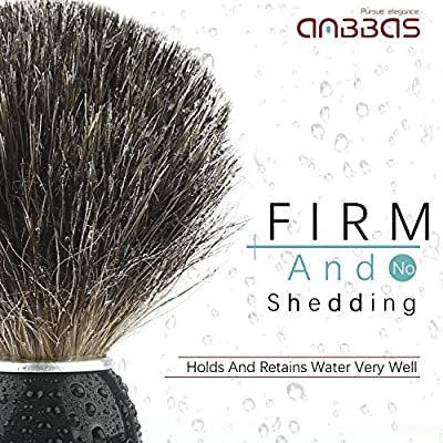 Shaving Set, 4in1 Anbbas Men Fine Badger Bristle Shave Brush Black Wood Handle,Stainless Steel Shaving Stand and Soap Cup with Shaving Soap Bar Natural & Organic for Perfect Wet Shaving from Anbbas