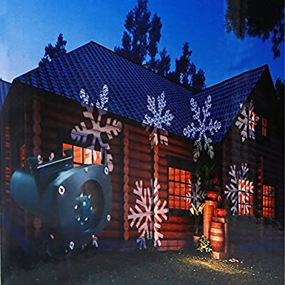 Projector Lighting 12 Pattern Colorful Pictures Christmas Projector Lamp Waterproof Landscape Projection Light for Outdoor/ Indoor Home Wall Garden on Christmas Halloween Holiday Birthday Party