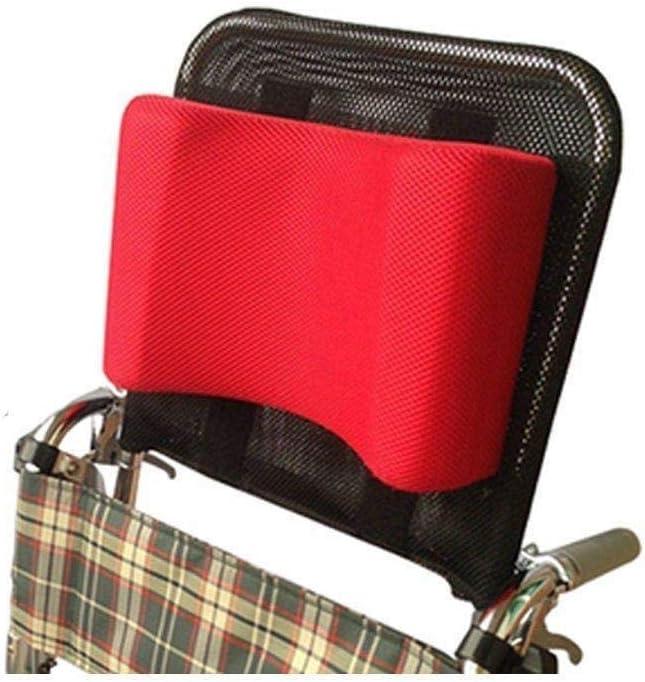 OSL Accesorios para sillas de ruedas Silla de ruedas Reposacabezas Soporte para el cuello Cabezal Cojín ajustable Almohada-Rojo, 16