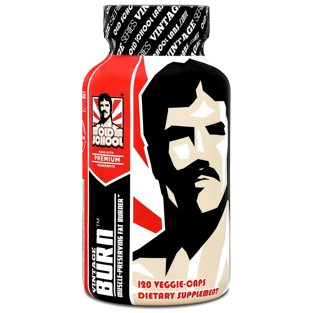 VINTAGE BURN Fat Burner - The First Muscle-Preserving Fat Burner Thermogenic Weight Loss Supplement - Keto Friendly, Appetite Suppressant - For Men and Women - 120 Natural Veggie Diet Pills by Old School Labs