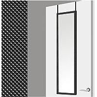 Espejo para Puerta Moderno, Negro con diseño Geométrico