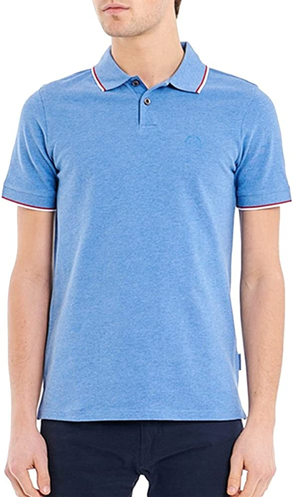 Armani Exchange Polo Uomo 8NZF75 Z8M5Z Bluette S: Amazon.es: Ropa ...
