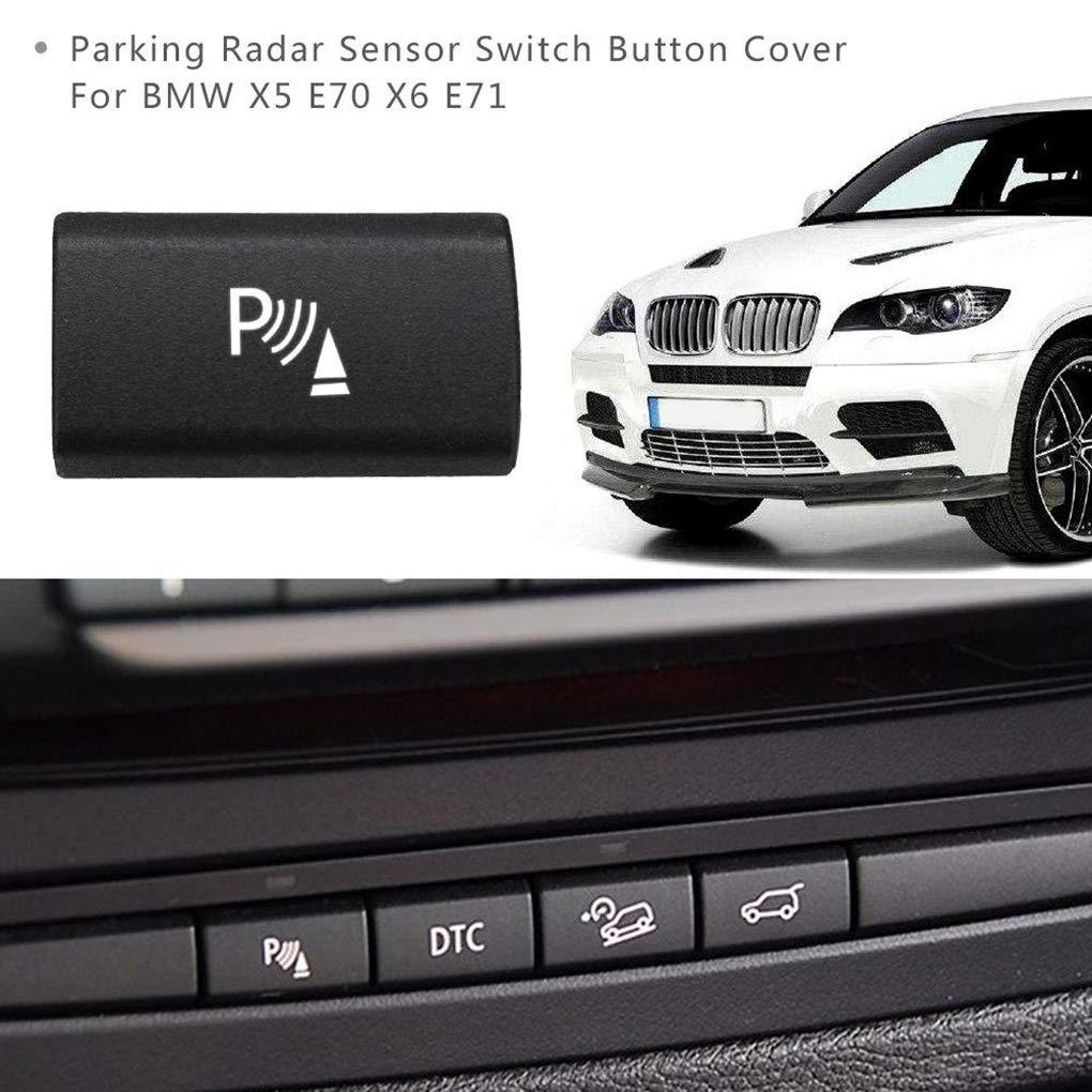 Lorsoul Parken-Sensor-Schalter Taste Abdeckung Ersatz f/ür BMW X5 E70 06-13 X6 E71 08-14 61319414020