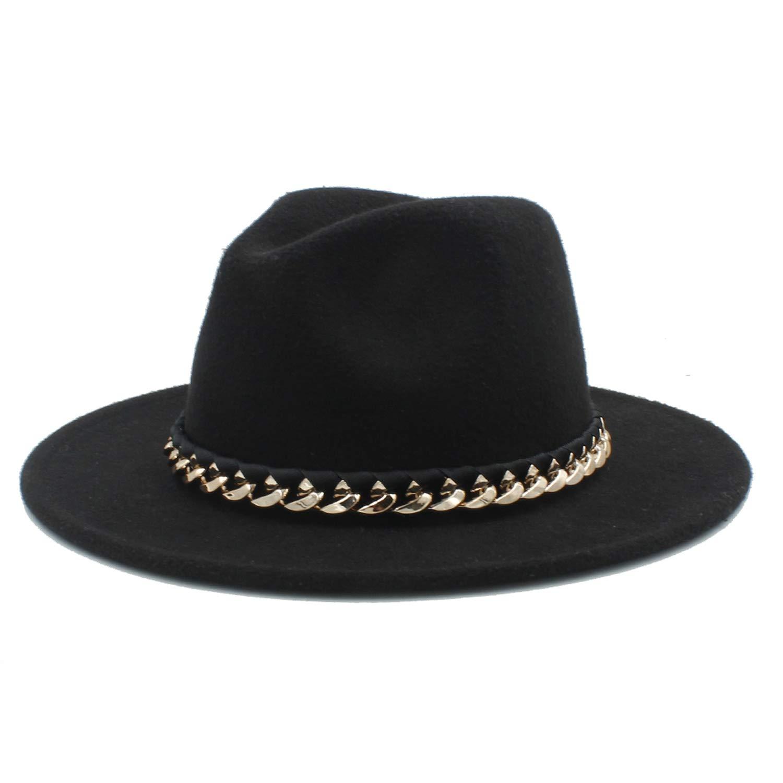 ANDERDM Women Men Wool Fedora Hat for Autumn Floppy Chapeu Feminino Cloche Wide Brim Jazz Church Sombrero Caps