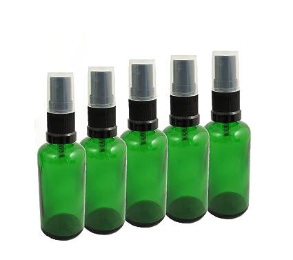 5 x verde de cristal de colour botella de 30 ml/botella pulverizadora incluido en