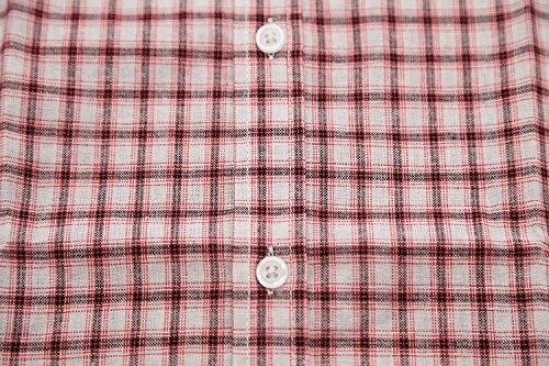 Carreaux rot Loisir À Chemise Manches Casual Brossée Pour C Homme Courtes Nutexrol Coton Multicolor nOqSw40q
