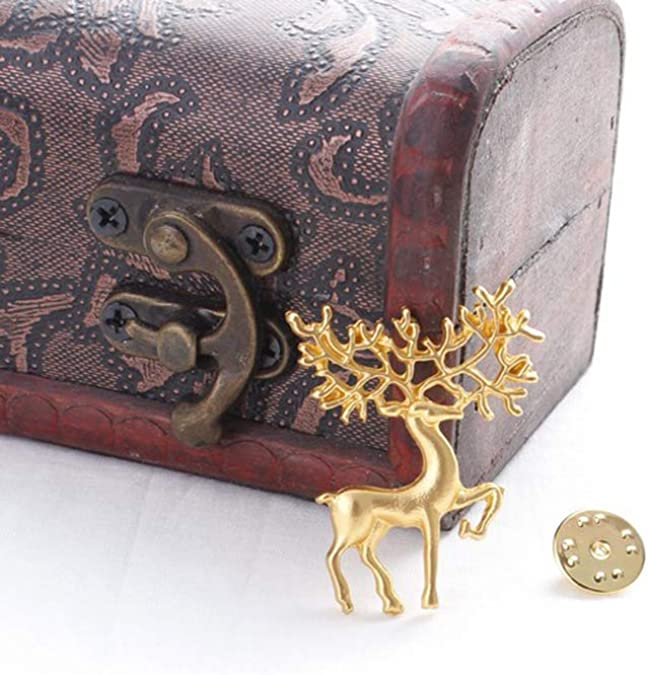 Ogquaton 3 PCS Broche De No/ël Broches Plaqu/é Or De No/ël Art Artisanat Mod/èle Broche Broche Bijoux Cadeaux pour Femmes Filles Elk Pratique Et Utile