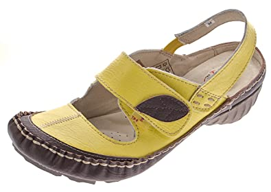 83c454558c15ff Leder Pumps Sandaletten Damen Schuhe Gelb Comfort Ballerinas Gr. 39 ...