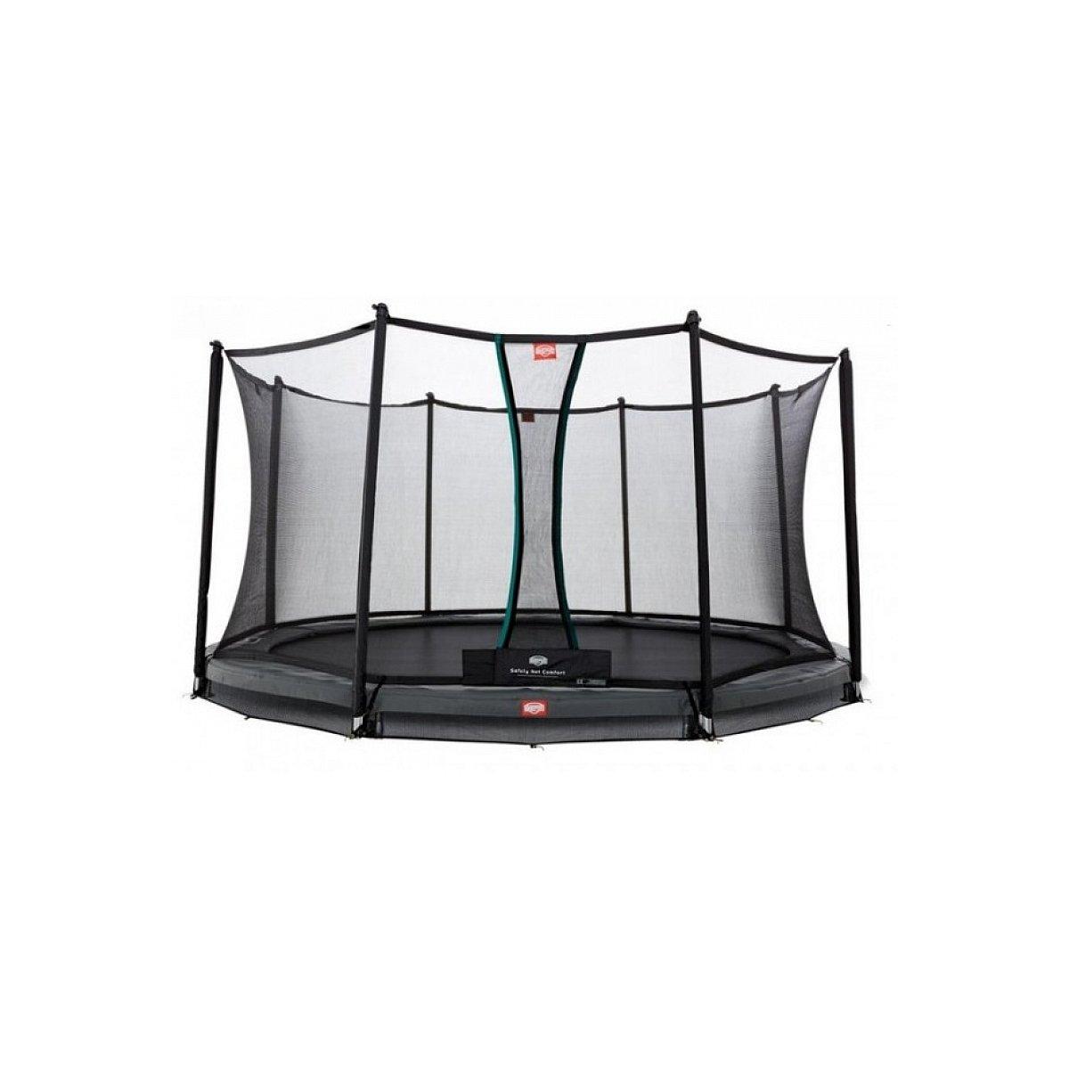 Berg® Trampolin InGround Elite mit Sicherheitsnetz Deluxe, ø 430 cm, Grau