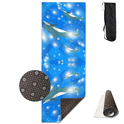 HiExotic Estera Yoga Mat Eco-Friendly Anti Slip Dolphins ...