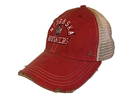 c3cc825c92d ... discount code for nebraska cornhuskers retro brand red vintage worn mesh  back snapback hat cap 87d43