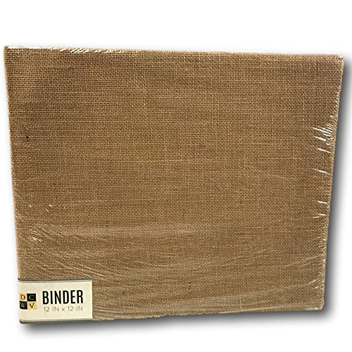 American Crafts DCWV 12'' x 12'' Burlap Scrapbook Album - D-Ring Binders, Archival Quality by DCWV