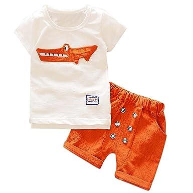 b779d7208d7b8 ❤️LILICAT Enfant en Bas âge Enfant Bébé Garçon Tops Vêtements de Bande  Dessinée Imprimer T