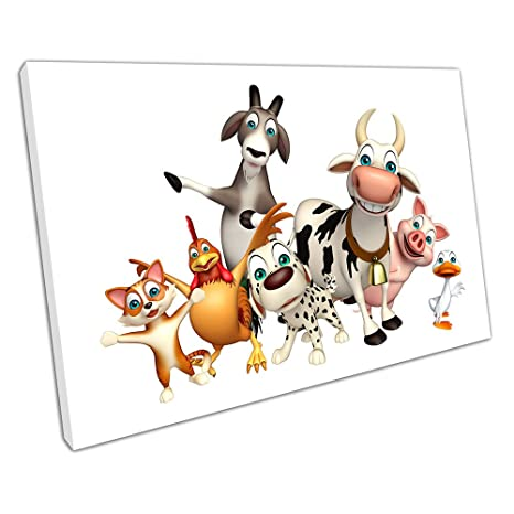 Scatola in cartone gli animali della fattoria illustrazione