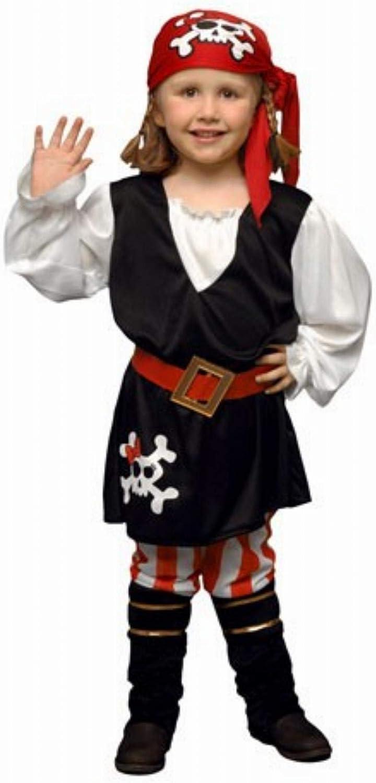 DISFRAZ Pirata Niña TALLA 3-4 AÑOS: Amazon.es: Juguetes y juegos
