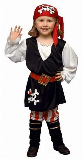 DISFRAZ Pirata Niña TALLA 3-4 AÑOS