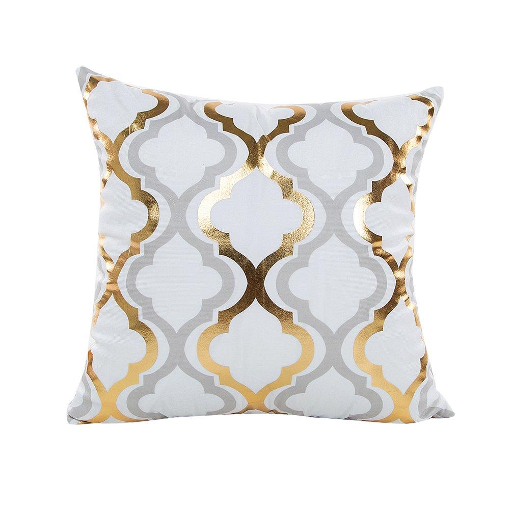 Yuanu Bronzage Géométrique Printed Housse de coussin Doux Taie d'oreiller Décoratif Maison Canapé ananas (45*45cm/18*18)