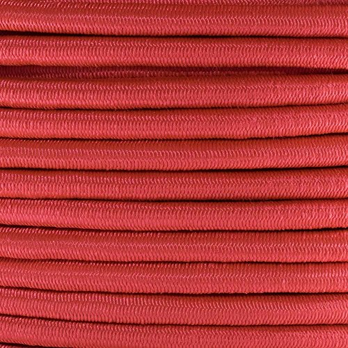 GOLBERG Elastic Shock Cord - 2.5mm, 1/32, 1/16, 3/16, 5/16, 1/8, 3/8, 5/8, 1/4, 1/2 inch diameter - Various Colors - 10, 25, 50, 100 ft lengths - Made in the USA (Imperial Red, 5/16in x 50ft)