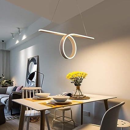 XAJGW Luces colgantes modernas de forma de onda LED para ...
