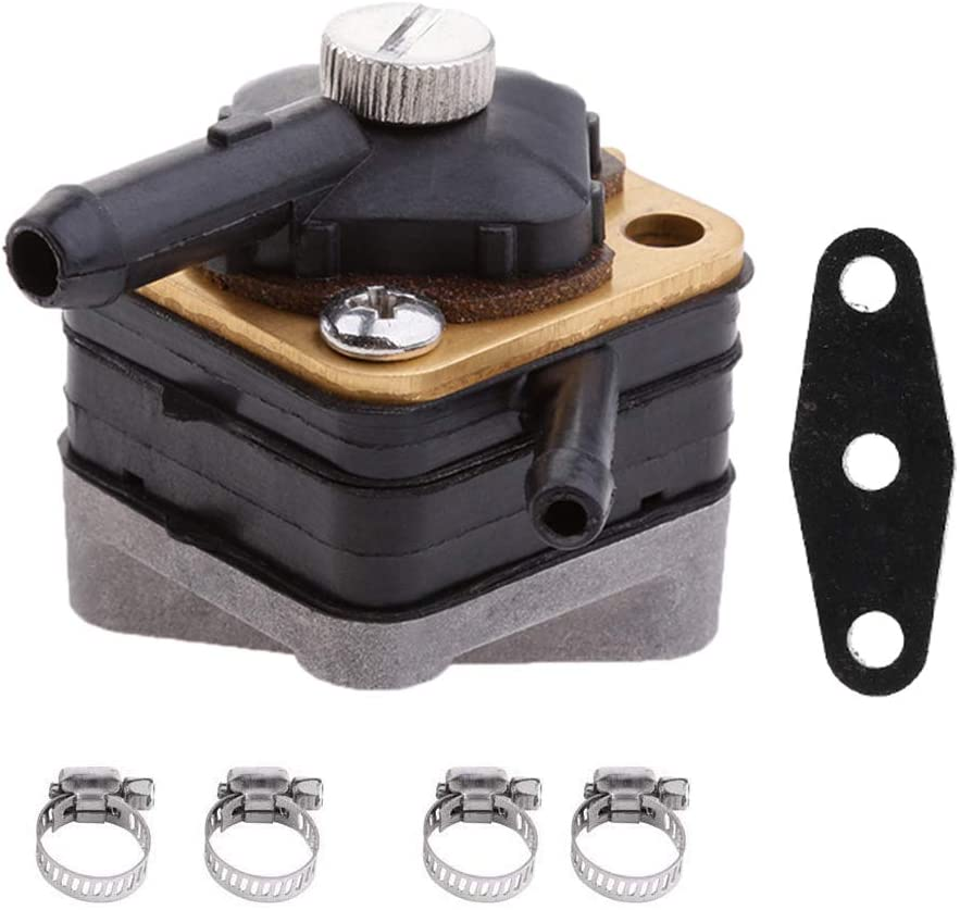 18-7350 Fuel Pump for Mallory Johnson Evinrude Outboards 6hp -15 hp engine Replaces 397839 395091 Fuel Pump with Gasket