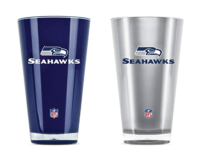 NFL Seattle Seahawks 20oz Insulated Acrylic Tumbler Set of 2