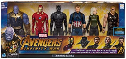 Marvel Avengers Infinity War Titan Hero Assembled Collection Figure 6-Pack Exclusive Hasbro SG/_B07KTBGG4Z/_US