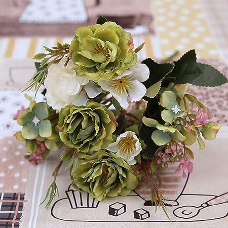 Bouquet Sposa Fiori Piccoli.Cwjczy Peonia Fai Da Te Decorazione Per Feste Fiori Artificiali In