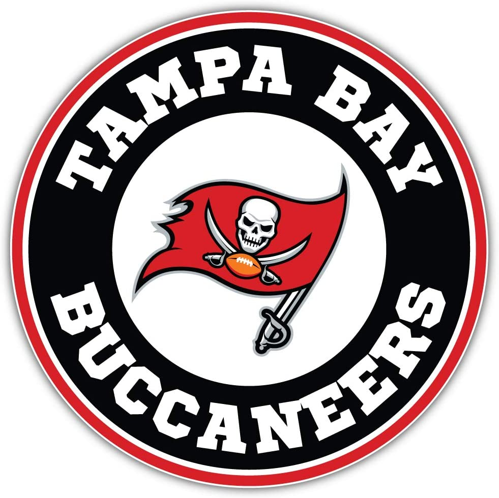 Amazon Com Tampa Bay City Buccaneer Football Die Cut Sticker Logo Sport Decal 5 X 5 Kitchen Dining