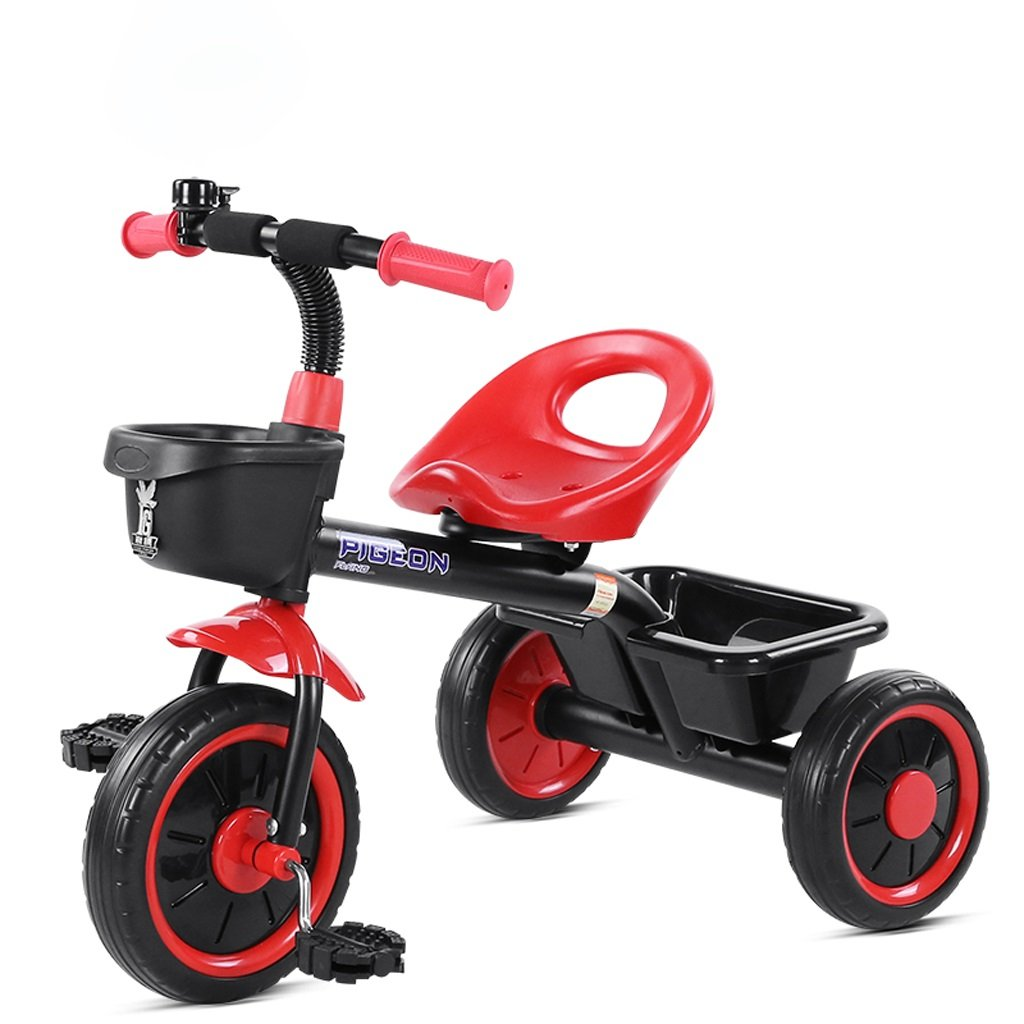 Fenfen Children 's Tricycle 2 – 5 Years Old Baby Bike Baby Toy Carベビーカーバイク、レッド/イエロー/ブルー、724658 CM B07BY983MBレッド