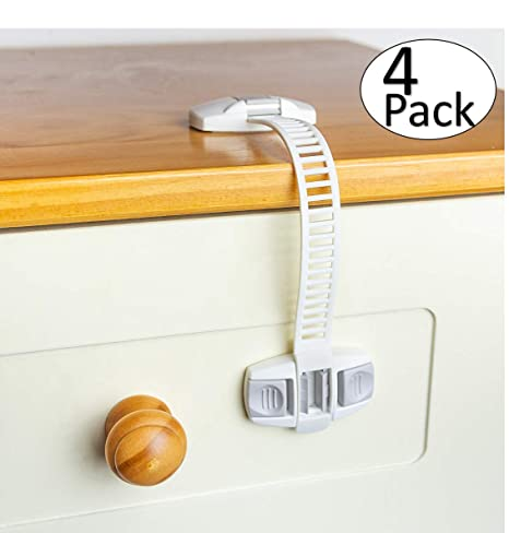 Baby Safety Locks Easy Installation Child Proof Strap Lock No Tools for Cabinet