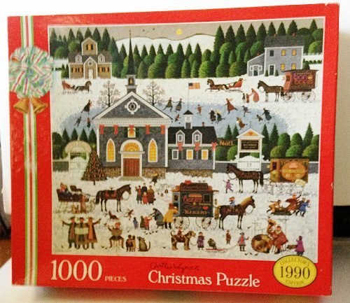 Charles Wysocki 1990 Collector's Edition Christmas 1000 Piece Puzzle Churchyard Christmas