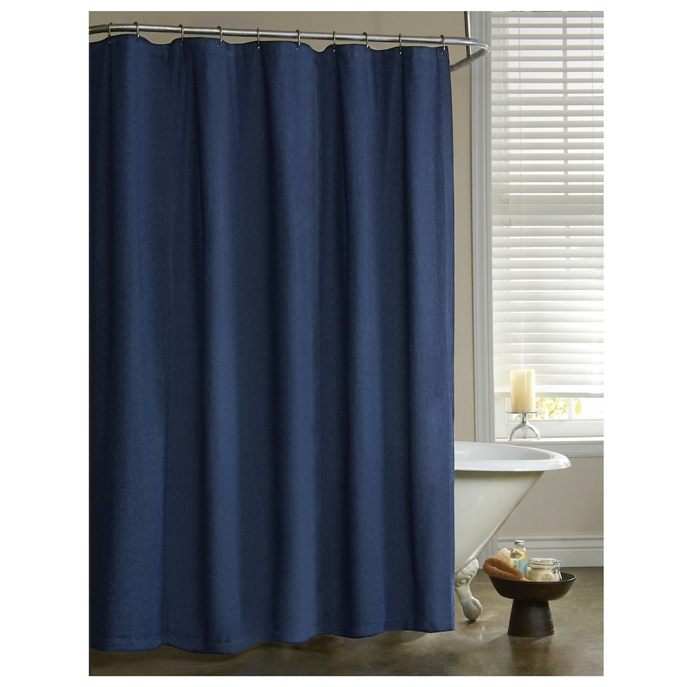 Amazon.com: American Denim 100% Cotton Shower Curtain: Home & Kitchen