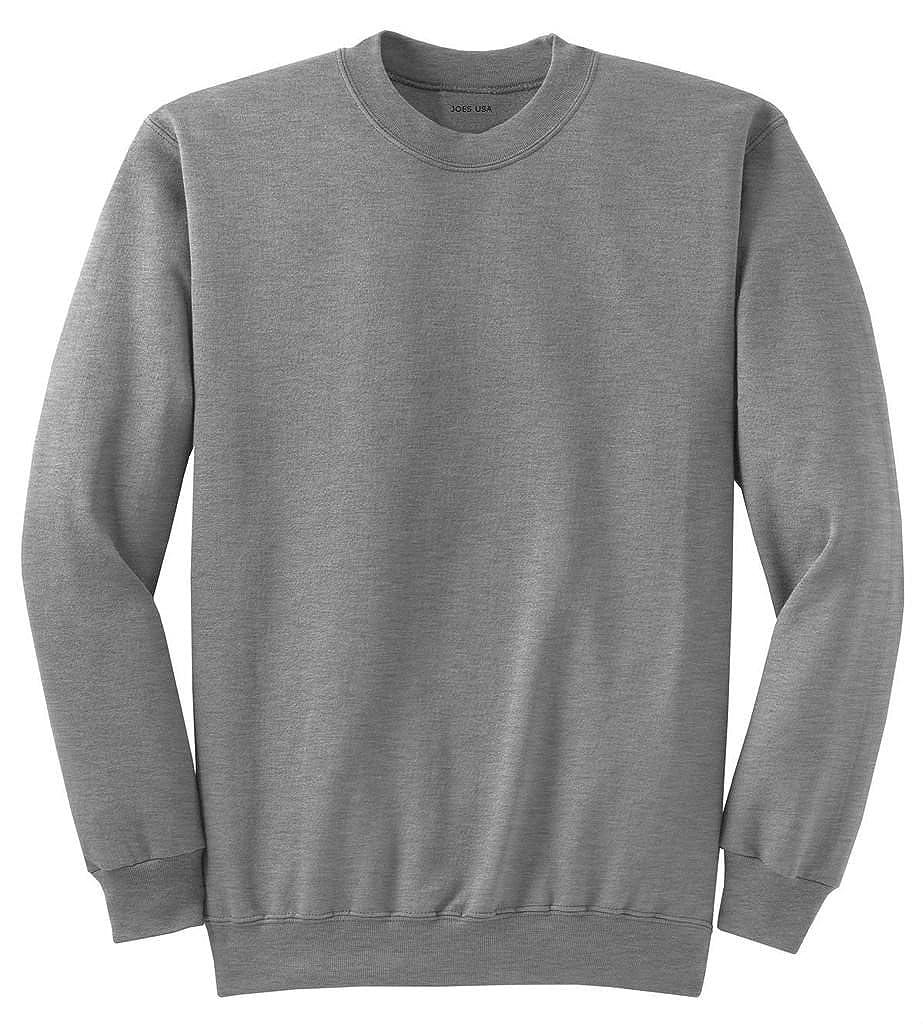 Joe's USA(tm) Youth Soft and Cozy Crewneck Sweatshirt, S-Athletic Heather USALSS42660