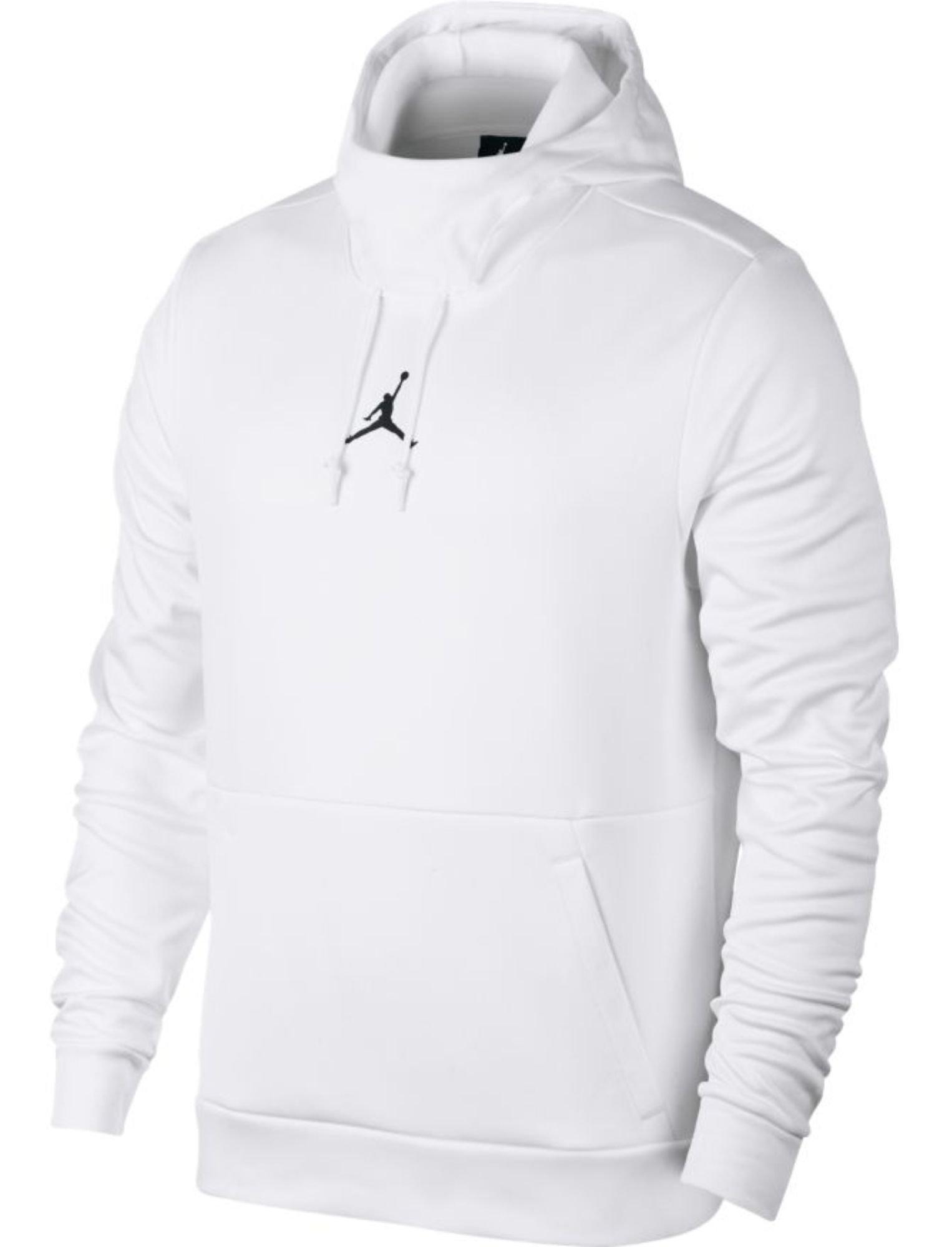 Jordan Men's Therma 23 Alpha Training Pullover Hoodie - White/Black - 861559-100 - SZ. X-Small