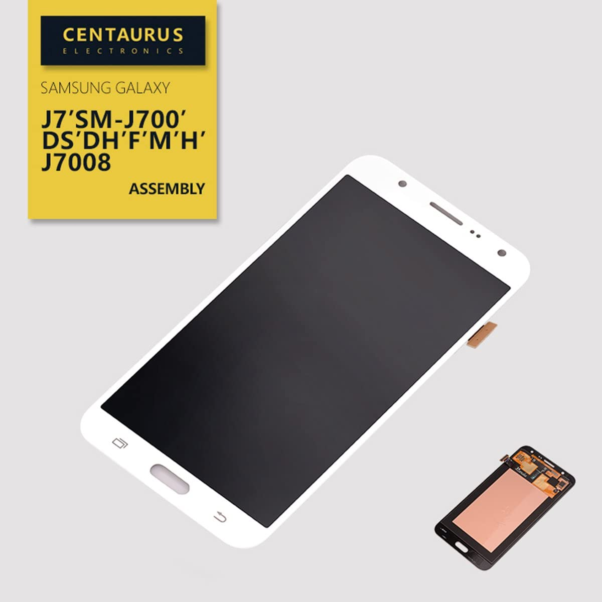 CENTAURUS AMOLED Screen Replacement for Samsung Galaxy J7 2015 SM-J700 J700H J700M J700DS J700F J700T J700P J7008 J700DS J700DH 5.5 inch LCD Display Touch Screen Digitizer Assembly Part Repair (White)
