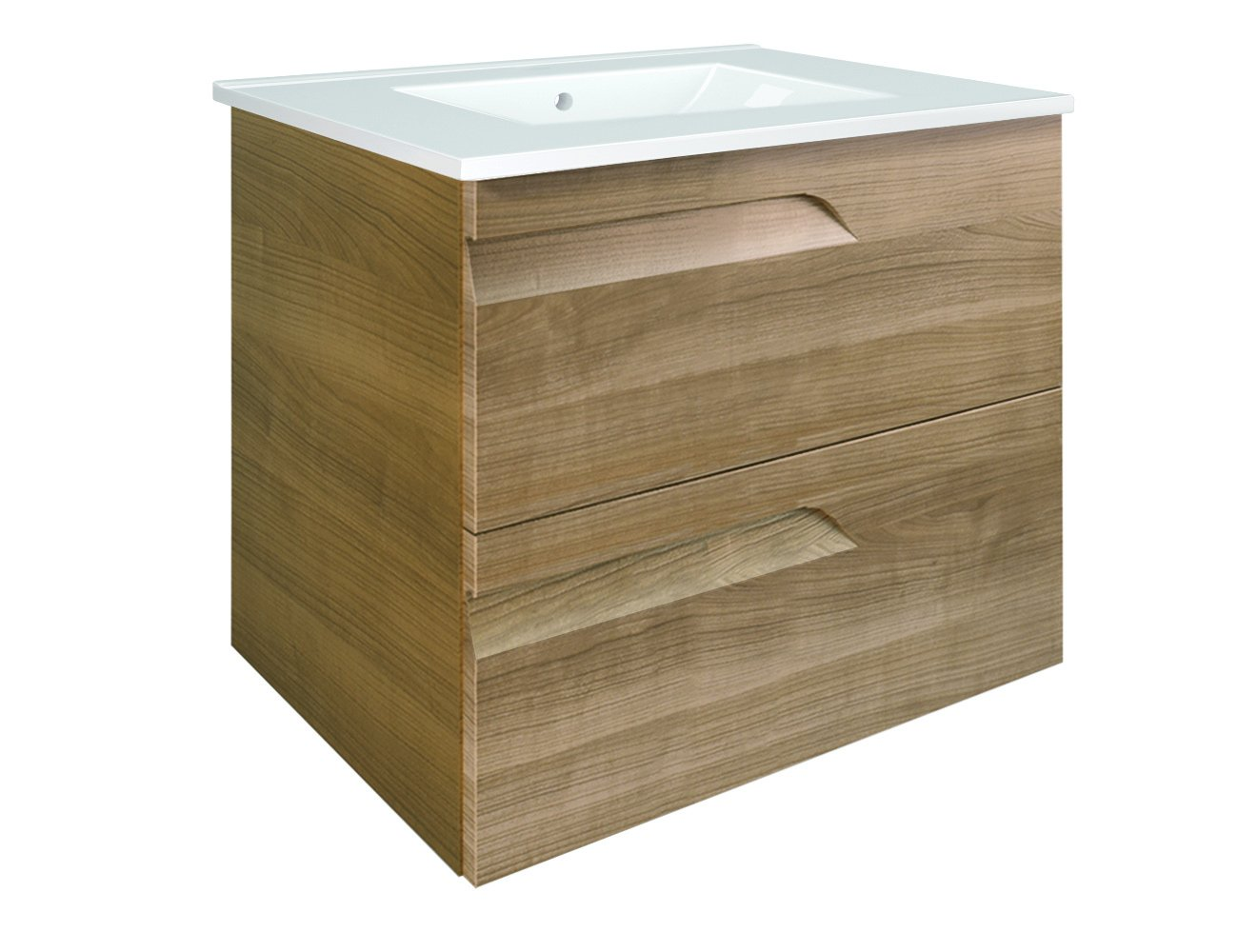 Eviva EVVN23-24WN-Vitale Vitta 24 Walnut bathroom vanity Combination - Assembled & ready for installation 1 pre-drilled sink hole 3 functioning drawers - bathroom-vanities, bathroom-fixtures-hardware, bathroom - 61aRerqMl%2BL -