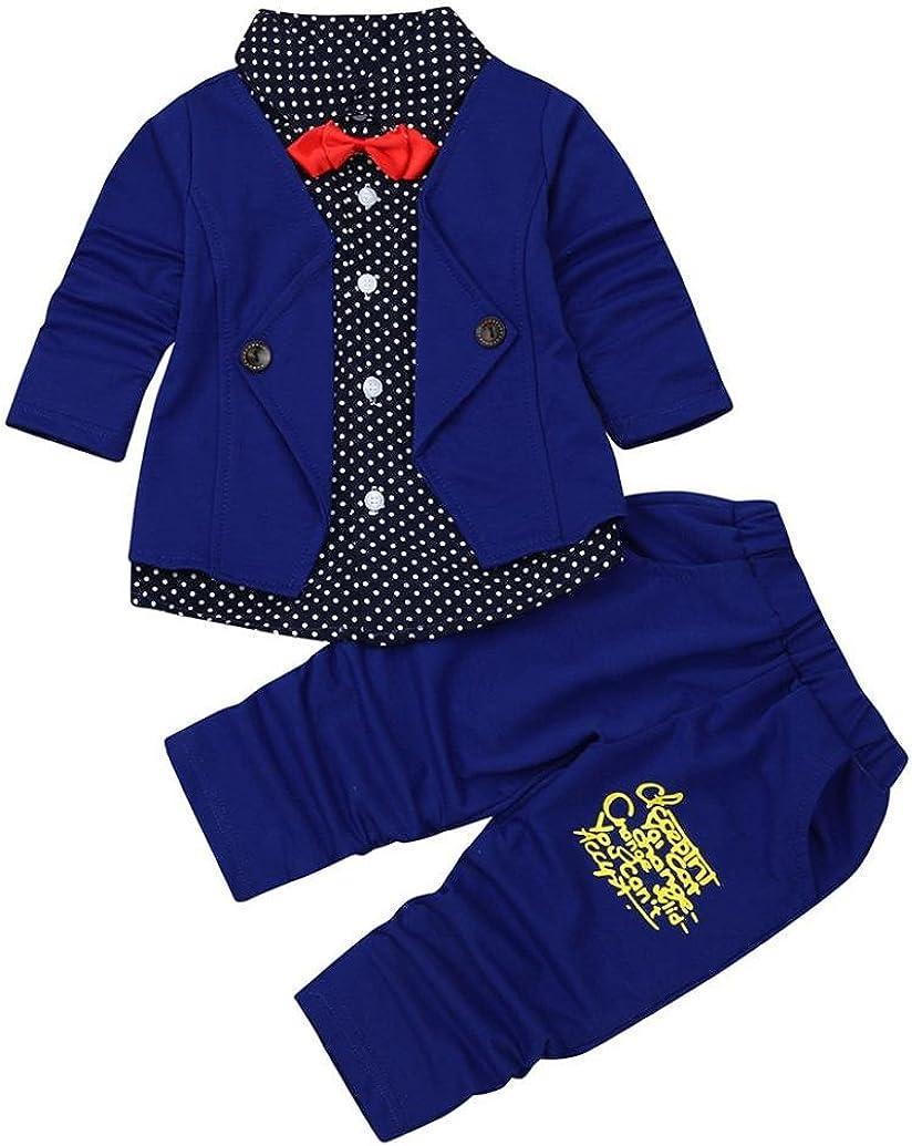 sunnymi JungeTuxedo AnzugKid Baby Gentleman Kleidung Set Festliche Party Taufe Hochzeit Boy