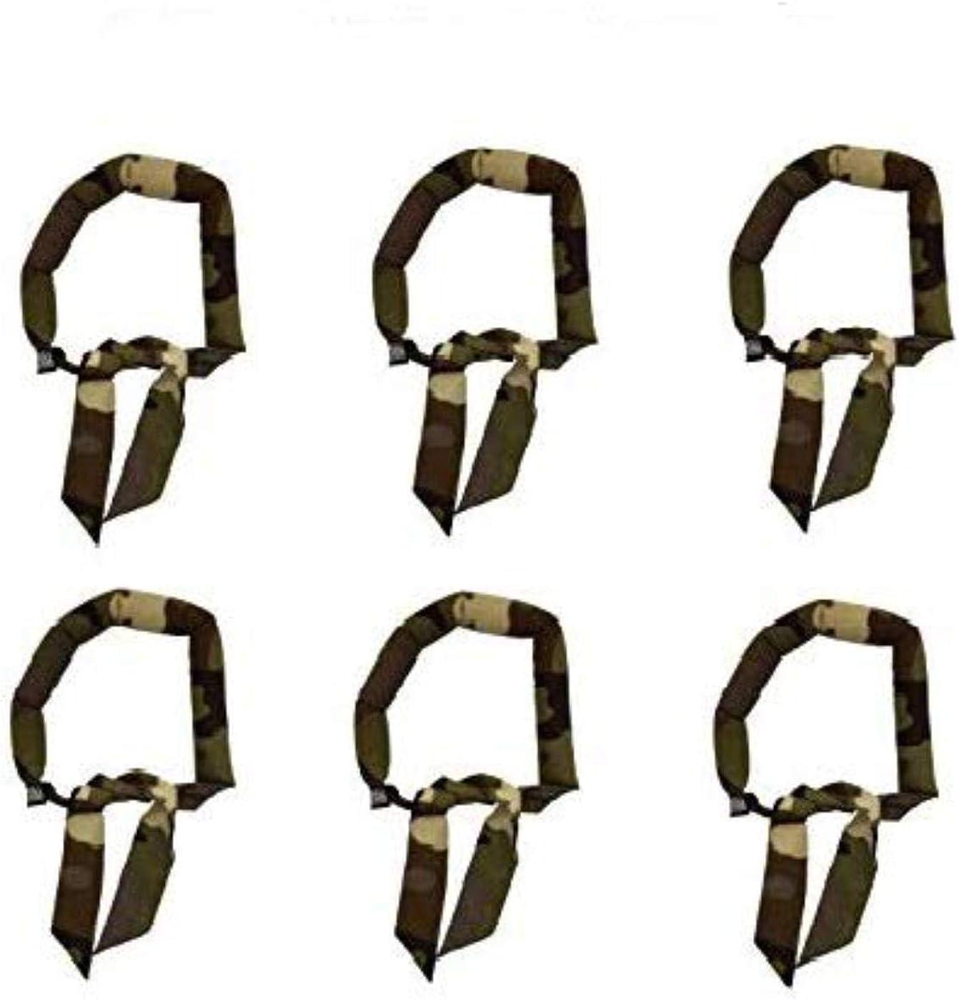 Blubandoo | Water Evaporative Neckbandoo Cool Tie | 6 Pc. Set of Army Camouflage Print | Unisex | Cooling Bandana Scarf